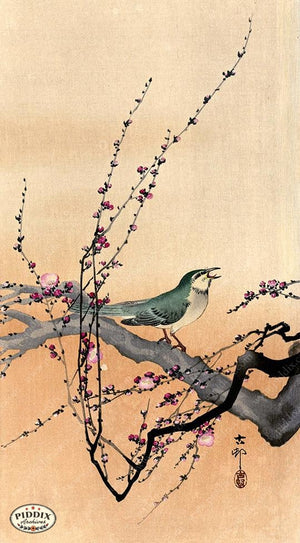 PDXC19707 -- Japanese Bird and Flowers Woodblock