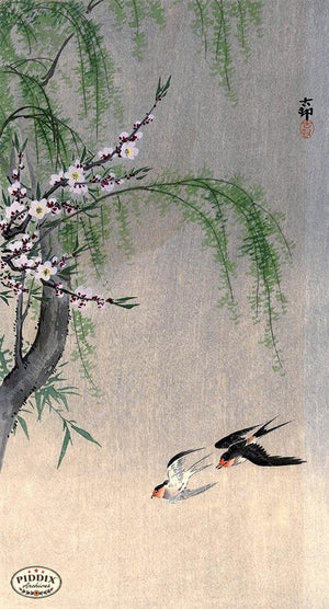 PDXC19717 -- Japanese Birds and Flowers Woodblock