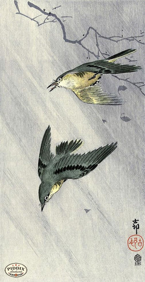 PDXC19737 -- Japanese Birds Woodblock