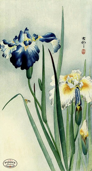 PDXC19738 -- Japanese Irises Woodblock