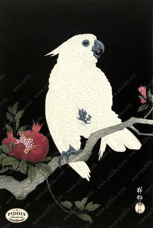 PDXC19744 -- Japanese Bird Woodblock