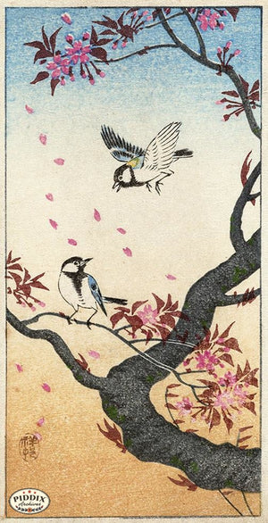 PDXC19773 -- Japanese Birds and Flowers Woodblock