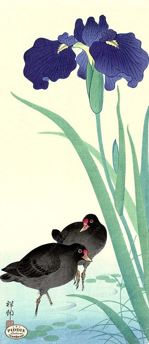 PDXC19779 -- Japanese Birds and Flowers Woodblock