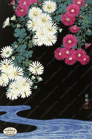 PDXC19780 -- Japanese Flowers Woodblock