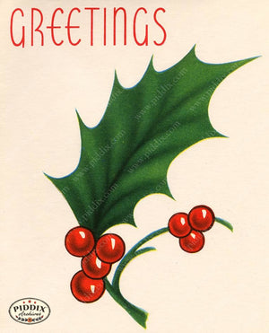 PDXC19875a -- Christmas Greens Color Illustration