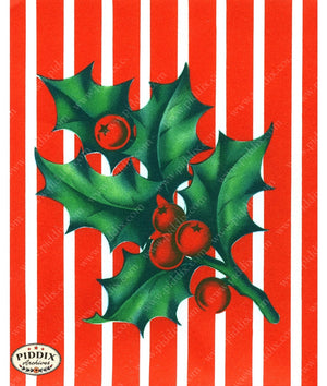 PDXC19881a -- Christmas Greens Color Illustration
