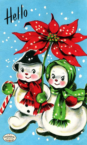 PDXC19888a -- Snowmen women Color Illustration