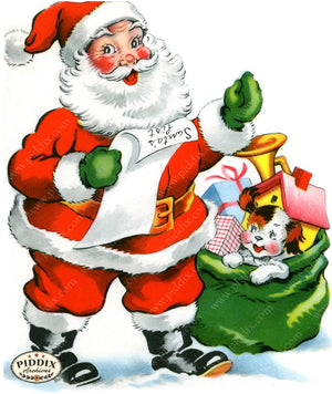 PDXC19890a -- Santa Claus Color Illustration