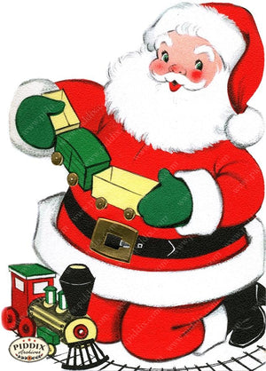 PDXC19900a -- Santa Claus Color Illustration