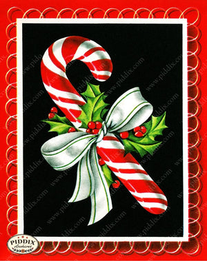 PDXC19909a -- Christmas Candy Color Illustration