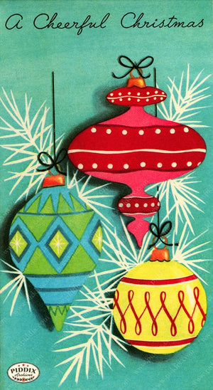 PDXC19910a -- Christmas Ornaments Color Illustration