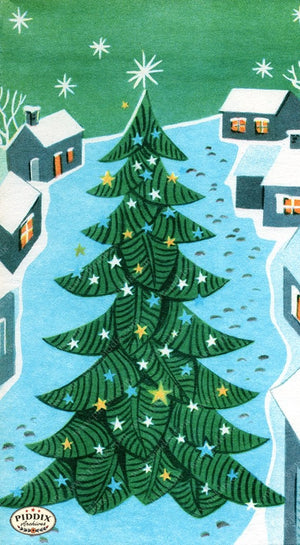 PDXC19911a -- Christmas Trees Color Illustration