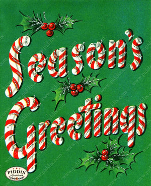 PDXC19924a -- Christmas Words Color Illustration