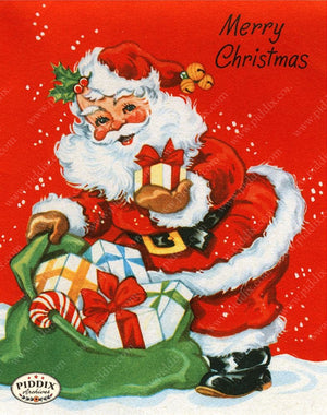 PDXC19941a -- Santa Claus Color Illustration