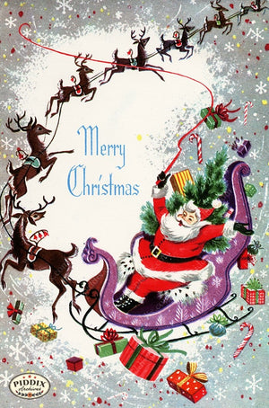 PDXC20134a -- Santa Claus Color Illustration