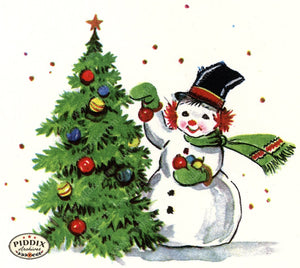 PDXC20147a -- Snowmen women Color Illustration