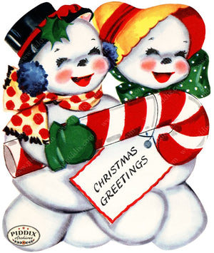 PDXC20156a -- Snowmen women Color Illustration