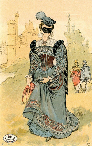 Pdxc2147 -- French Fashion Color Illustration