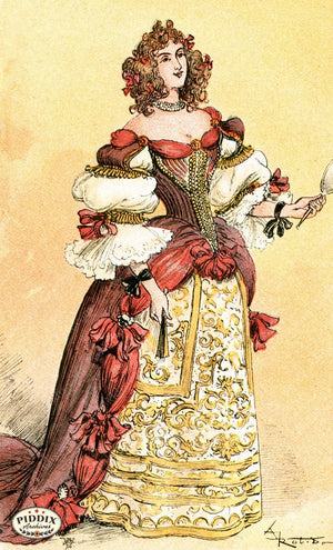 Pdxc2148 -- French Fashion Color Illustration