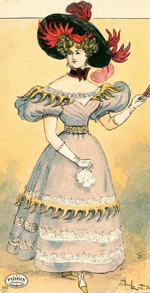 Pdxc2149 -- French Fashion Color Illustration