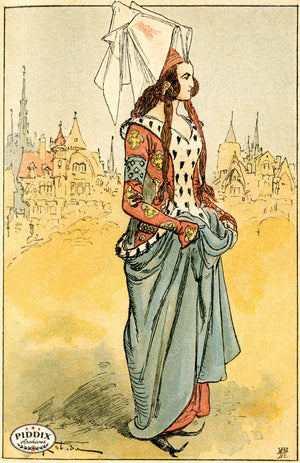 Pdxc2150 -- French Fashion Color Illustration