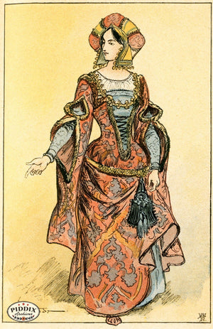 Pdxc2153 -- French Fashion Color Illustration