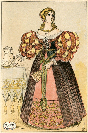 Pdxc2154 -- French Fashion Color Illustration