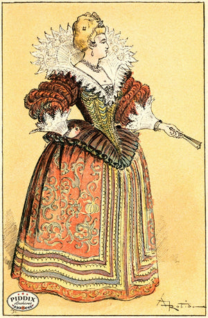 Pdxc2157 -- French Fashion Color Illustration
