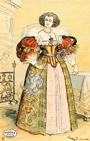 Pdxc2158 -- French Fashion Color Illustration