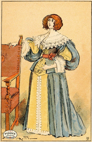 Pdxc2159 -- French Fashion Color Illustration