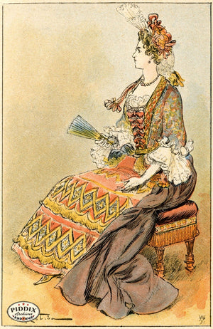 Pdxc2160 -- French Fashion Color Illustration