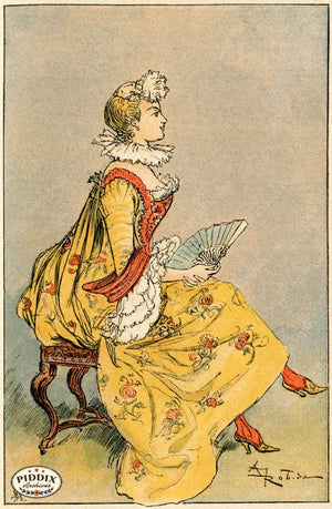 Pdxc2161 -- French Fashion Color Illustration
