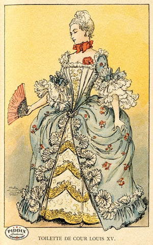 Pdxc2162 -- French Fashion Color Illustration