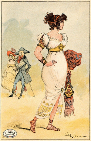 Pdxc2167 -- French Fashion Color Illustration