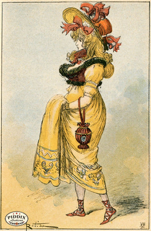 Pdxc2168 -- French Fashion Color Illustration