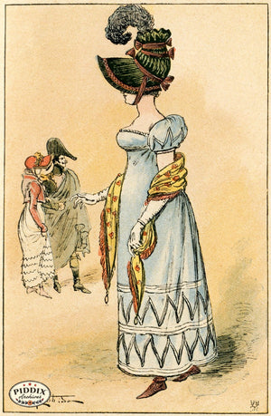 Pdxc2169 -- French Fashion Color Illustration