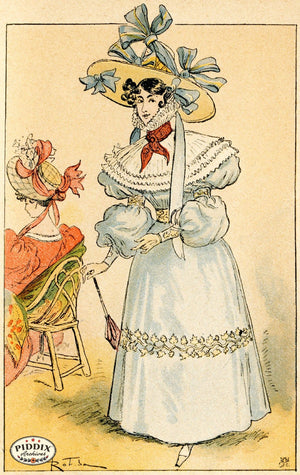 Pdxc2172 -- French Fashion Color Illustration