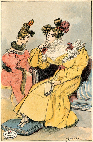 Pdxc2173 -- French Fashion Color Illustration