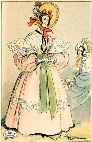 Pdxc2174 -- French Fashion Color Illustration