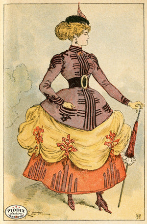 Pdxc2175 -- French Fashion Color Illustration