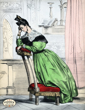 Pdxc3248 -- French Ladies Color Illustration
