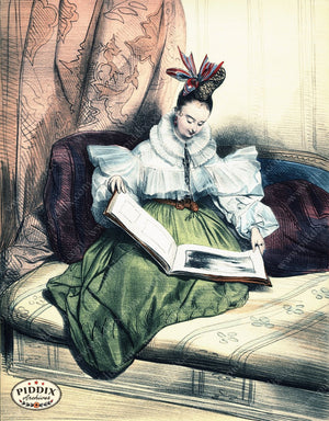 Pdxc3249 -- French Ladies Color Illustration