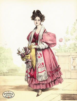 Pdxc3250 -- French Ladies Color Illustration