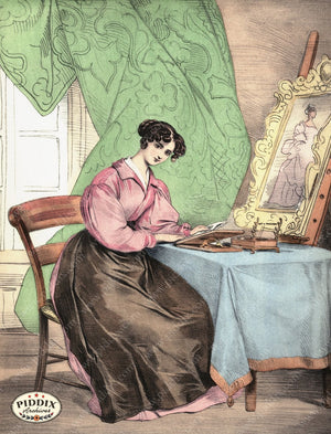 Pdxc3251 -- French Ladies Color Illustration