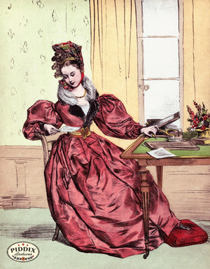 Pdxc3252 -- French Ladies Color Illustration