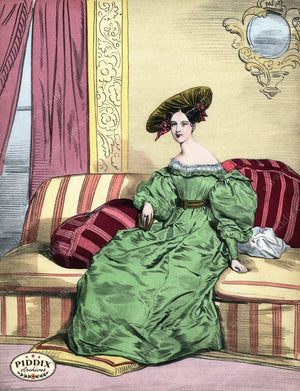 Pdxc3254 -- French Ladies Color Illustration