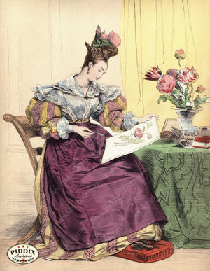 Pdxc3257 -- French Ladies Color Illustration