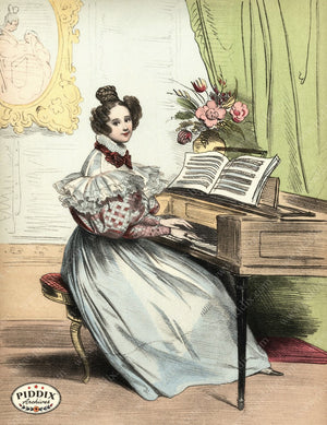 Pdxc3258 -- French Ladies Color Illustration