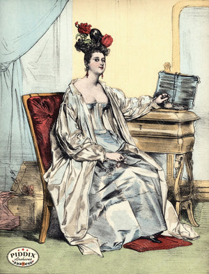 Pdxc3259 -- French Ladies Color Illustration