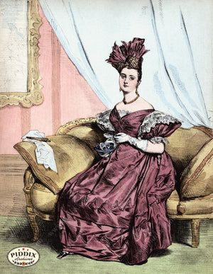 Pdxc3260 -- French Ladies Color Illustration